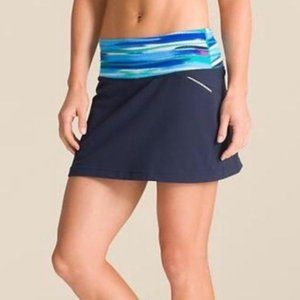 Athleta Grenadine Airbrush Relay Skort Lines Tall